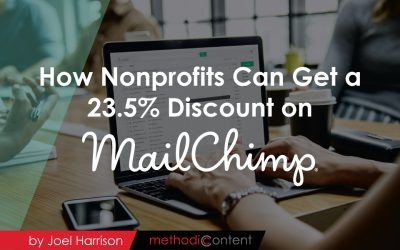 How Nonprofits Can Get a 23.5% Discount On Your Mailchimp Account