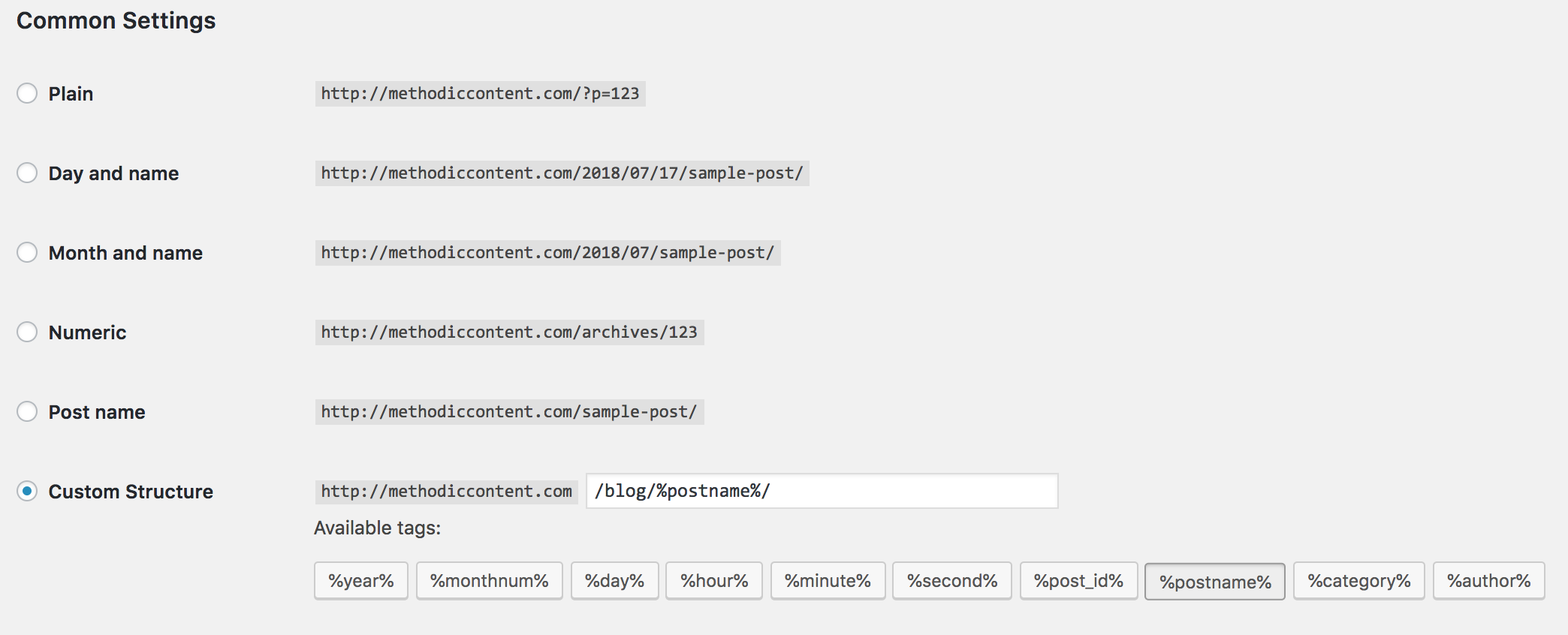 how to set your wordpress blog url structure for analytics