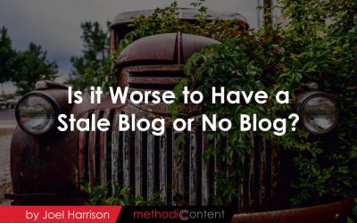 Is it Worse to Have a Stale Blog or No Blog?